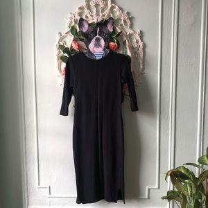 Topshop midi black pencil dress